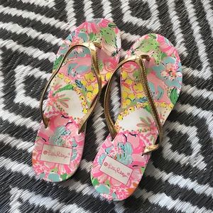 Lilly Pulitzer for Target Flip Flops. Size 8.